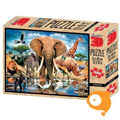 Prime 3D - Puzzel 500 stukjes 'Afrikaanse oase'