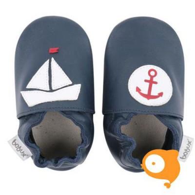 Bobux - Soft sole navy nautical