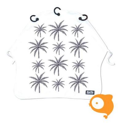 Kurtis - Kinderwagengordijn palmtrees blue