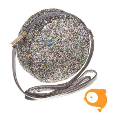 Mimi & Lula - Lula round glitter cross body bag zilver
