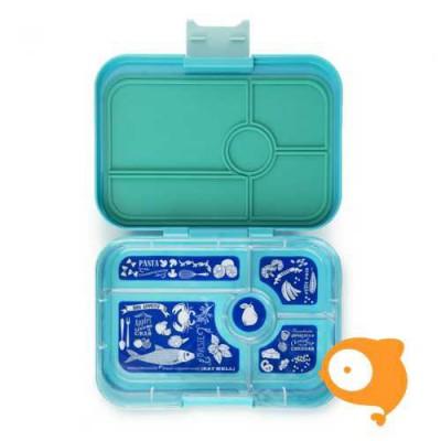 Yumbox - Tapas Antibes Blue met 5 compartimenten Bon Appetit tray