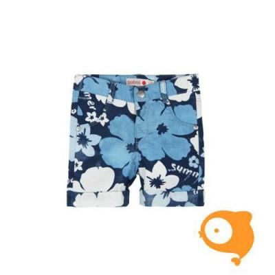 Boboli - Short bloemen blauw