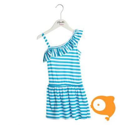 Rosalita señoritas - Bainville kleedje assymetrisch lichtblauw