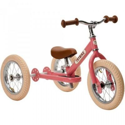Trybike - steel 2 in 1 loopfiets vintage pink