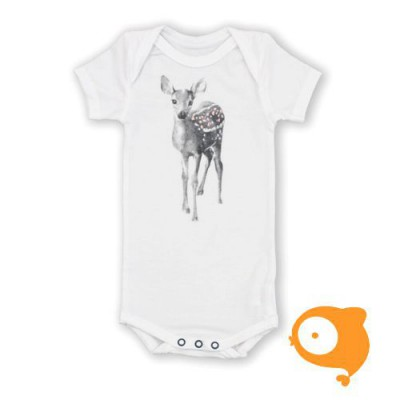 Miss princess and little frog - Body shortsleeve tencel bambi