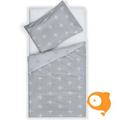 Jollein - Bedset 120 x 150 cm plus grey