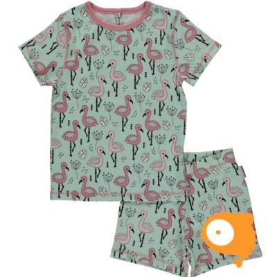 Maxomorra - Pyjama set SS Sweet Flamingo