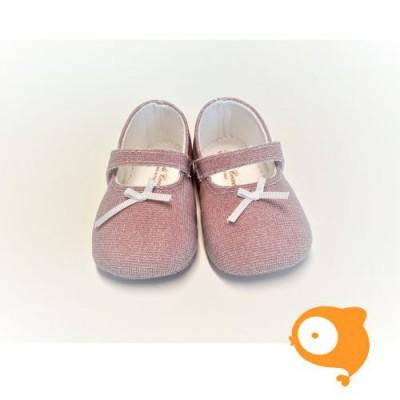 Fior di Coccole - Roze glitter ballerina met riempje
