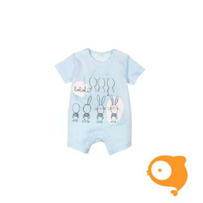 Boboli - Playsuit babyblauw rabbits