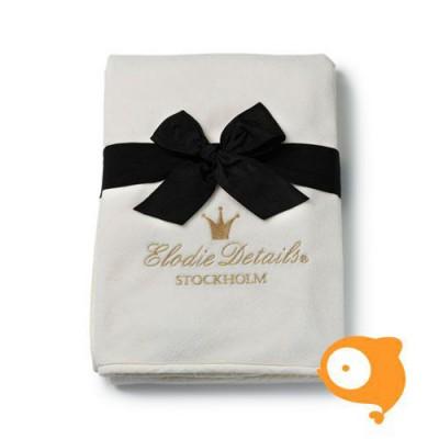 Elodie Details - Pearl velvet deken vanilla white
