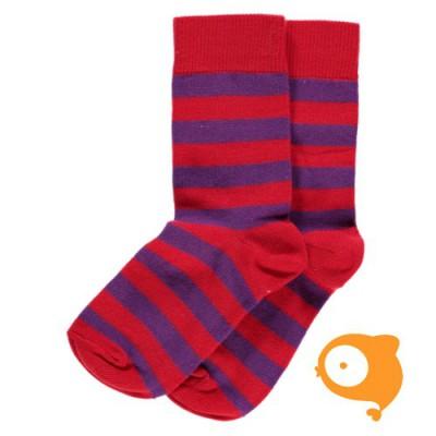 Maxomorra - Socks red/purple