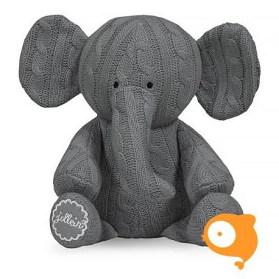Jollein - Knuffel cable elephant grijs