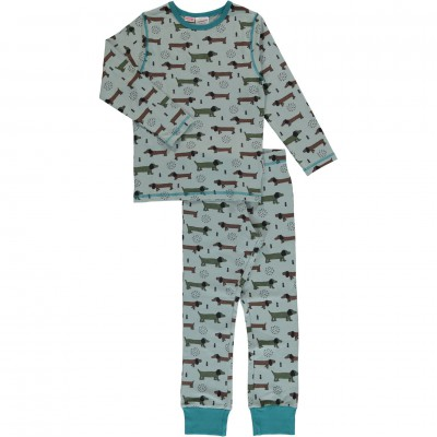 Maxomorra  - Pyjama Set LS dotted puppy