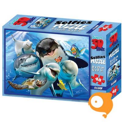 Prime 3D - Puzzel 48 stukjes 'Ocean selfie'