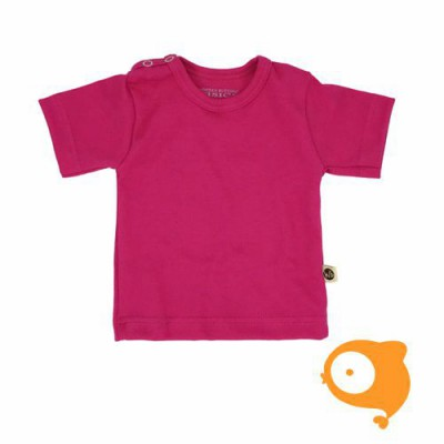 Wooden Buttons - T-shirt fuchsia