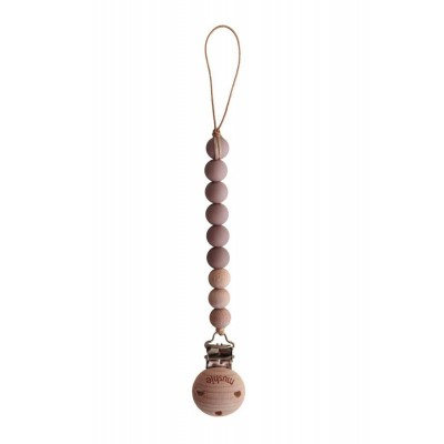 Mushie - Speenketting Cleo - Cloud Mauve/Wood