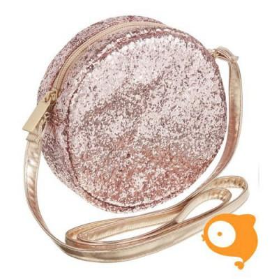 Mimi & Lula - Lula round glitter cross body bag roze