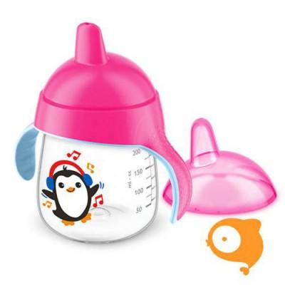 Avent - Lekvrije Pinguin beker 260 ml Roze