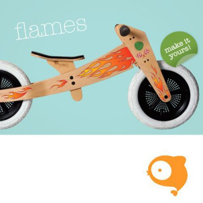 Wishbone - Stickers vlammen (voor Wishbone Bike original)