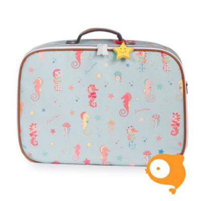 Jeune Premier Mini - Koffertje Suitcase - Seahorse