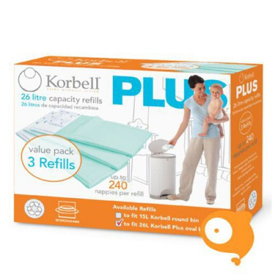 Korbell - Vulling 3 pack plus