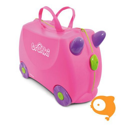 Trunki - Kinderkoffer ride-on roze