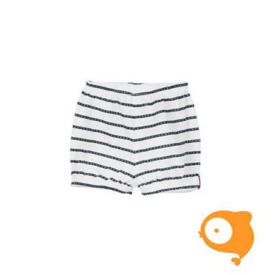 Boboli - Bermuda shorts wit/blauw gestreept