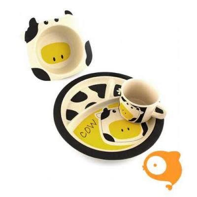 Pure Kids - Bamboe kinderservies koe