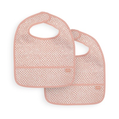 Jollein - Slab waterproof Snake pale pink (2 pack)