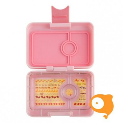 Yumbox - Minisnack Coco Pink met 3 compartimenten Illustrated tray