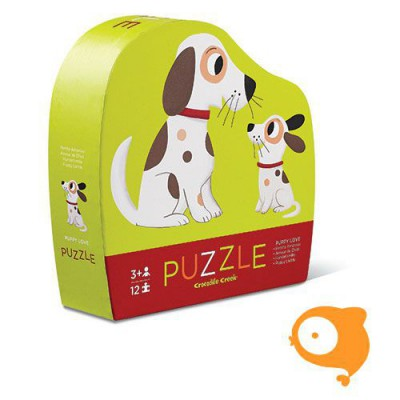 Crocodile Creek - Mini puzzel puppy love