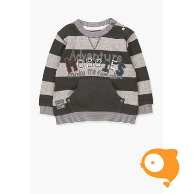 Boboli - Trui baby grijs gestreept