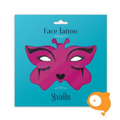 Snails - Face Tattoo - Midnight Cat