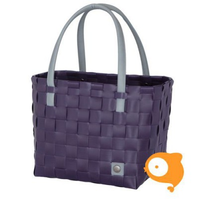 Handed By - Color block draagtas aubergine paars