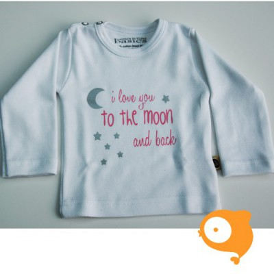Wooden Buttons - Longsleeve love you to the moon and back