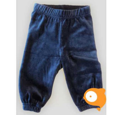 Maxomorra - Pants basic velour dark blue