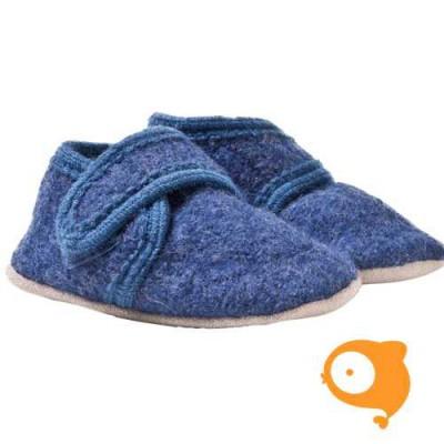 CeLaVi - Slofjes wol blue melange