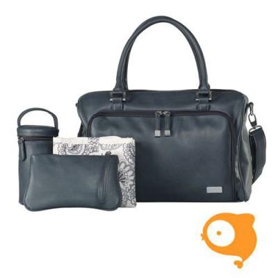 Isoki - Verzorgingstas double zip satchel balmain charcoal grey