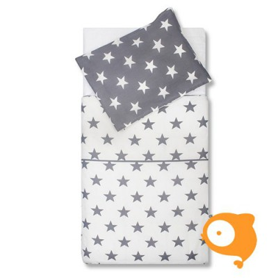 Jollein - Bedset 120 x 150 cm little star anthracite