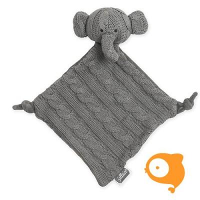 Jollein - Knuffeldoekje cable elephant grijs
