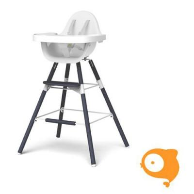 Childhome - Evolu 2 stoel set navy blue (lange poten + eettablet)