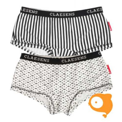 Claesen's - set van 2 hipboxershorts ribbon/stripes