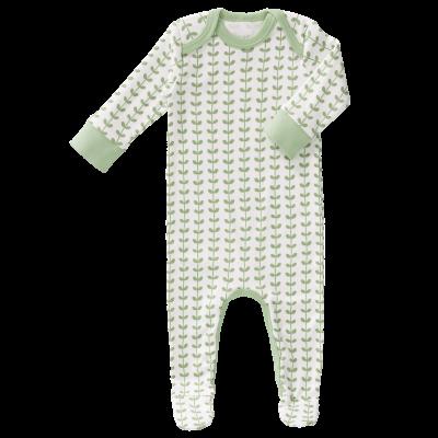 Fresk - pyjama met voet Leaves mint