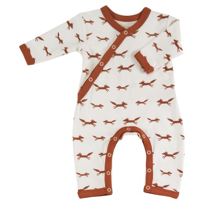 Pigeon - pyjama romper foxes on white