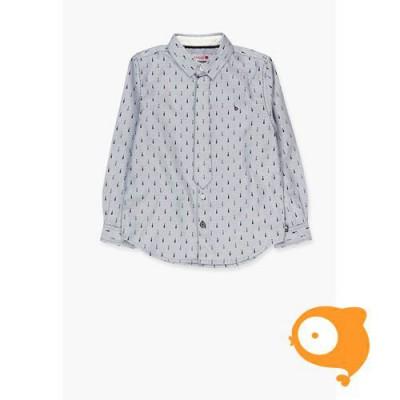 Boboli - Hemdje blauw met print dassen