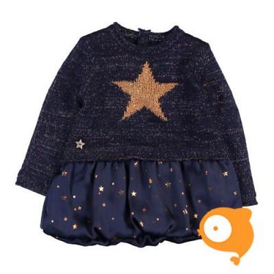 Boboli - Kleedje blauw met gouden sterren
