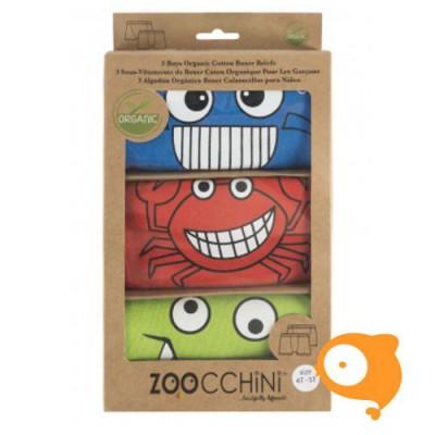 Zoocchini - Boxers Chompy Chompers - pakketje van 3 JONGENS