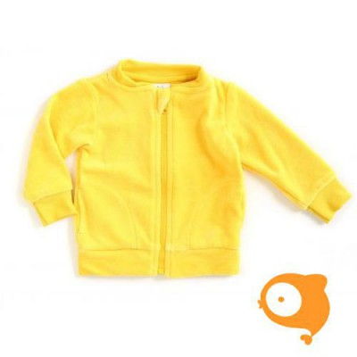 Mundo melocotón - Baby vestje velours geel