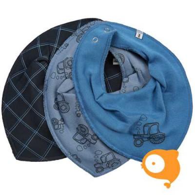 Pippi - Scarf bib boy - set van 3 stuks - vallarta blue