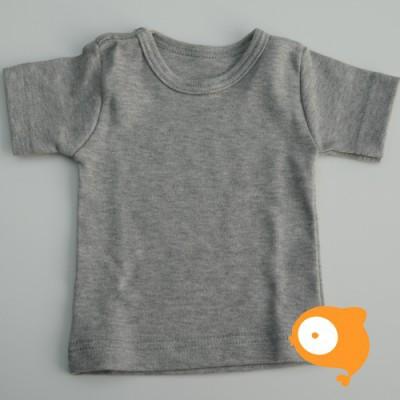 Wooden Buttons - T-shirt grijs